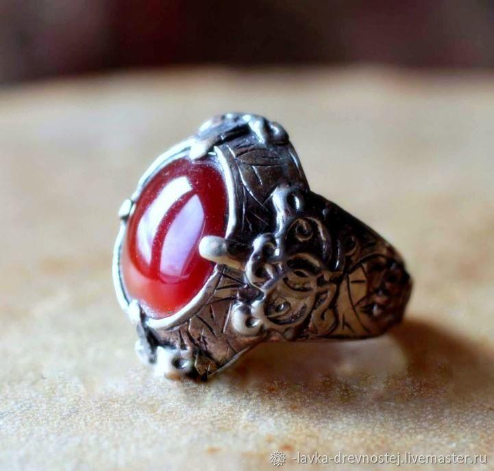 Винтаж: Кольца винтажные: 2 Кольца Пакистан. Сердолик,серебро – купить на Ярмарке Мастеров – LHZG8RU | Кольца винтажные, Киржач