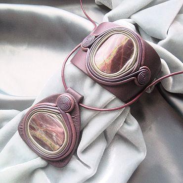 Decorations handmade. Livemaster - original item Jewelry set: with Burgundy Jasper. Handmade.