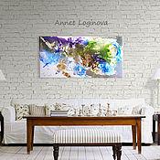 Картины и панно handmade. Livemaster - original item Emerald and turquoise - interior abstract painting. Handmade.