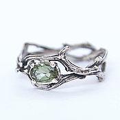 Украшения handmade. Livemaster - original item Ring of silver twigs with tourmaline. Handmade.