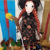 Куклы и пупсы ручной работы. Ярмарка Мастеров - ручная работа Ведьмочка Хельга и кот Попадос. Handmade.