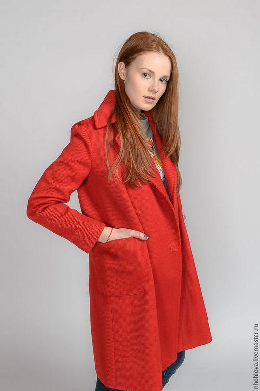 """Верхняя одежда ручной работы. Ярмарка Мастеров - ручная работа. Купить Пальто """"Красная заря"""". Handmade. Пальто, единственный экземпляр"""