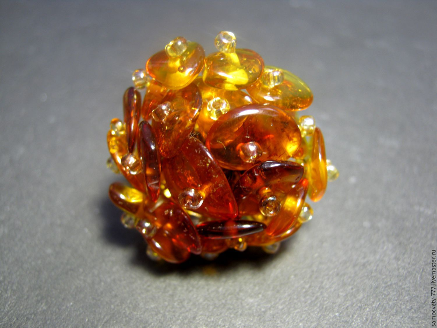 Ring with natural amber'amber', Rings, Feodosia,  Фото №1
