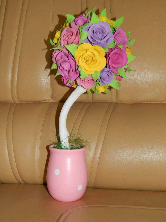 Развивающие игрушки ручной работы. Ярмарка Мастеров - ручная работа. Купить Топиарий из фоамирана. Handmade. Цветы из фоамирана