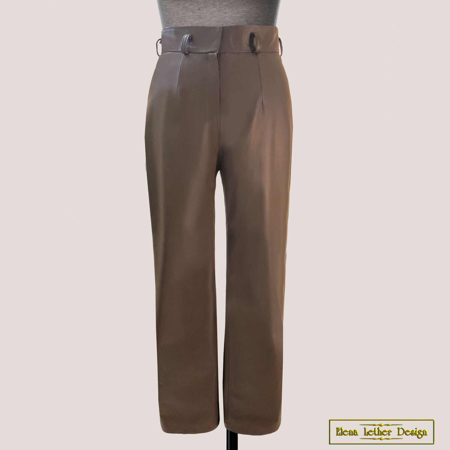 Leather trousers 'under the strap' with belt loops, Pants, Rodniki,  Фото №1