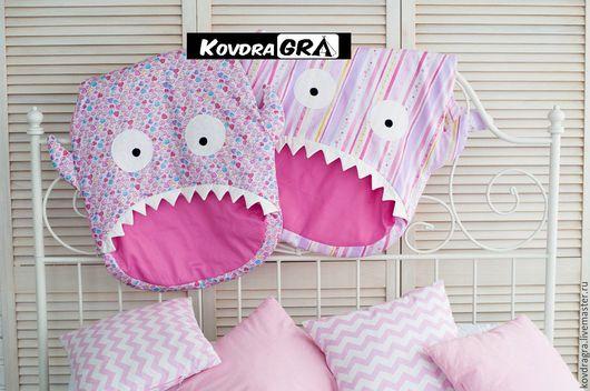 Для новорожденных, ручной работы. Ярмарка Мастеров - ручная работа. Купить Спальный мешок Рыбка. Handmade. Бледно-розовый