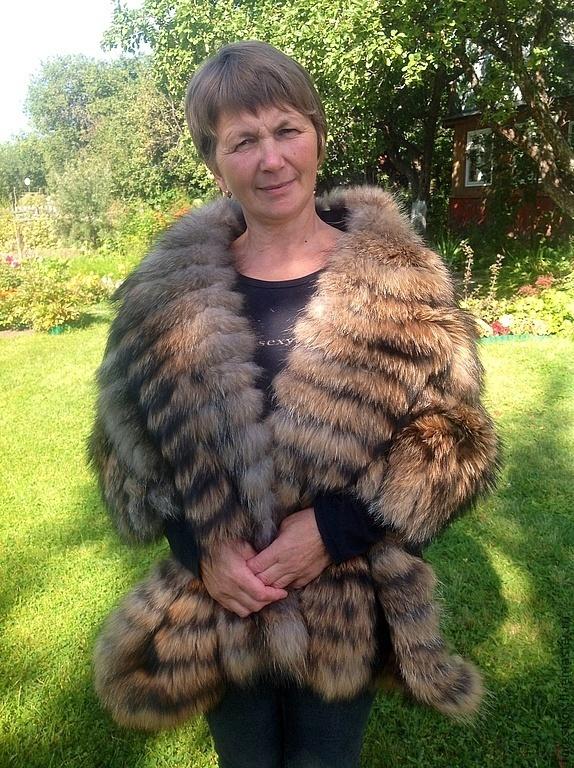 Raccon fur stole, Wraps, Moscow,  Фото №1
