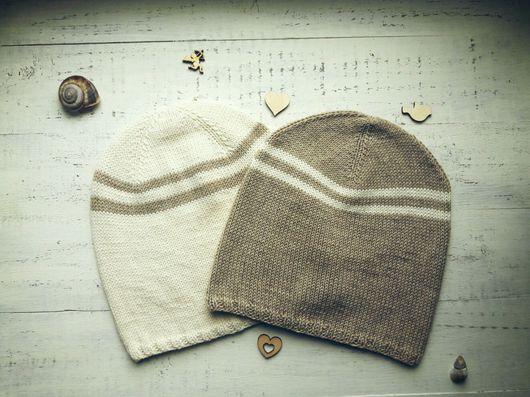 Шапки ручной работы. Ярмарка Мастеров - ручная работа. Купить Вязаные шапочки, кашемир с хлопком. Handmade. Вязаная шапка