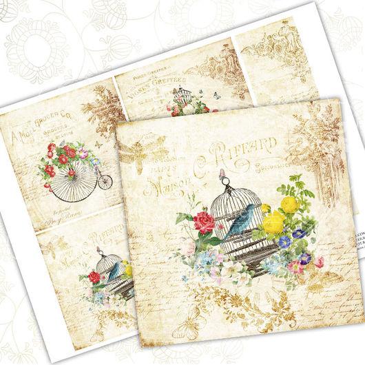 Иллюстрации ручной работы. Ярмарка Мастеров - ручная работа. Купить Bon Voyage. Handmade. Комбинированный, коллаж, цветы, картина