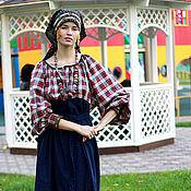 Одежда ручной работы. Ярмарка Мастеров - ручная работа Мезенская рубаха 01. Handmade.