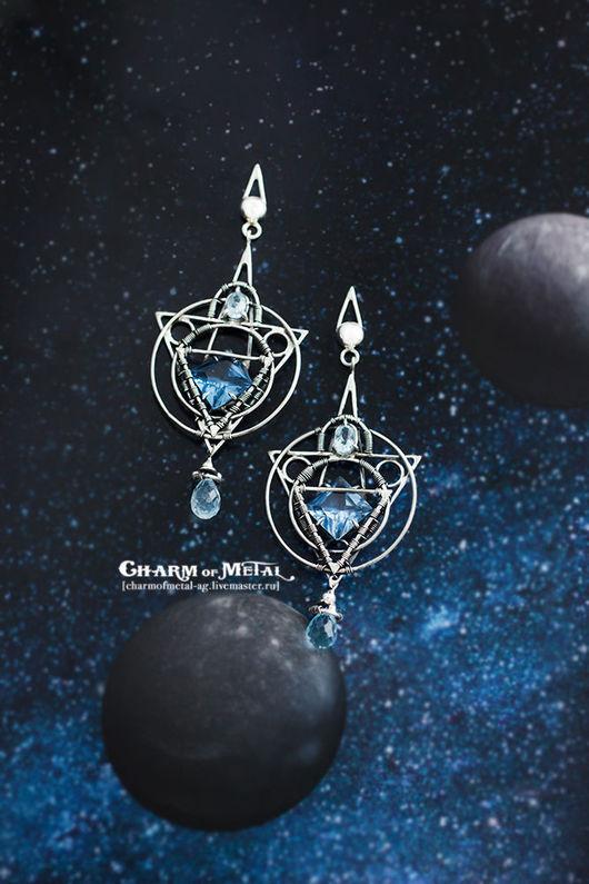 """Серьги ручной работы. Ярмарка Мастеров - ручная работа. Купить """"Stellar Astrolabe"""" Серебряные серьги. Handmade. Украшение, подарок женщине"""