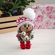 Куклы и игрушки handmade. Livemaster - original item Knitted interior toy hedgehog with snowdrops. Handmade.