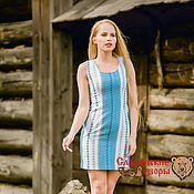 Одежда handmade. Livemaster - original item Dress with Slavic pattern