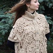 Одежда ручной работы. Ярмарка Мастеров - ручная работа Кейп(летнее пальто без рукавов). Handmade.