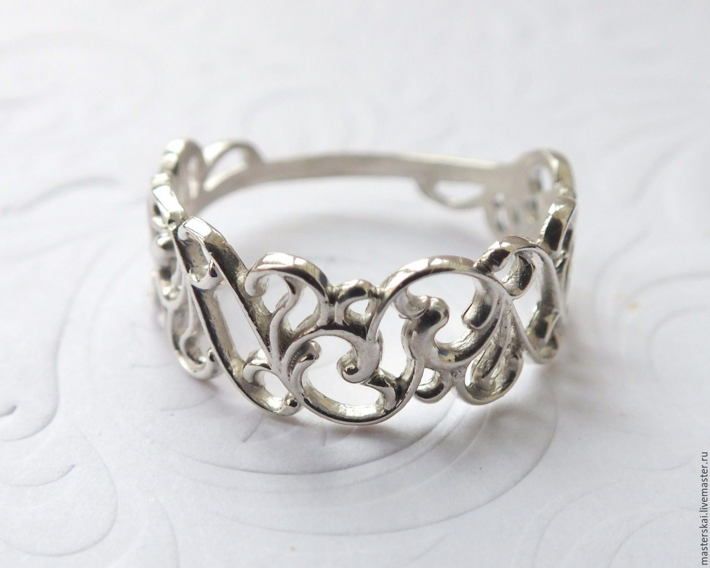 Ring 'Pattern III' - silver 925, Rings, Moscow,  Фото №1
