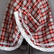 """Одежда ручной работы. Ярмарка Мастеров - ручная работа """"Красавишна"""" -  юбка в клетку с кружевом. Handmade."""
