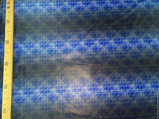 Ткань курточная Таффета `Темные полосы`