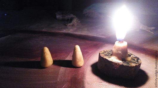 Свечи ручной работы. Ярмарка Мастеров - ручная работа. Купить Травяные колдовские свечи. Handmade. Желтый, волшебные свечи, травяной