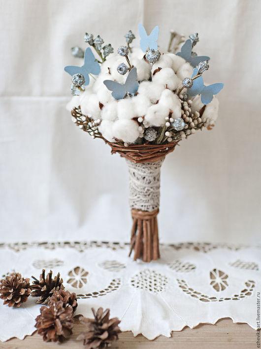 Свадебные цветы ручной работы. Ярмарка Мастеров - ручная работа. Купить Букет невесты / Зимний свадебный букет из сухоцветов. Handmade.
