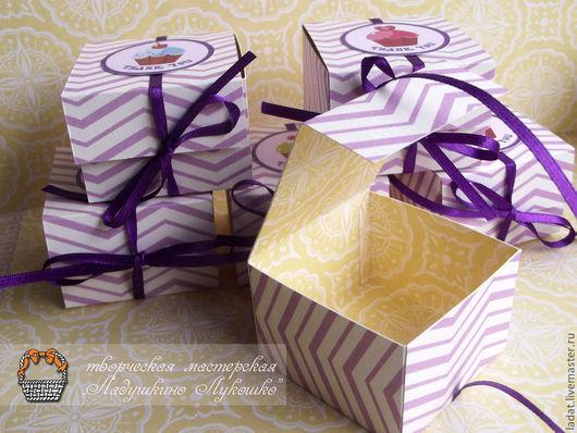Свадебные аксессуары ручной работы. Ярмарка Мастеров - ручная работа. Купить Подарочная коробочка(бонбоньерка) на завязках. Handmade. Бонбоньерка, нежно-розовый