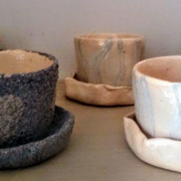 Flowers and floristry handmade. Livemaster - original item Ceramic pots for cacti and bonsai. Handmade.