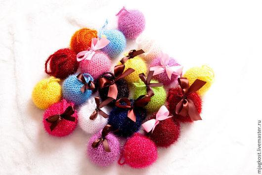 Новый год 2017 ручной работы. Ярмарка Мастеров - ручная работа. Купить Набор новогодних шариков 6 штук. Handmade.