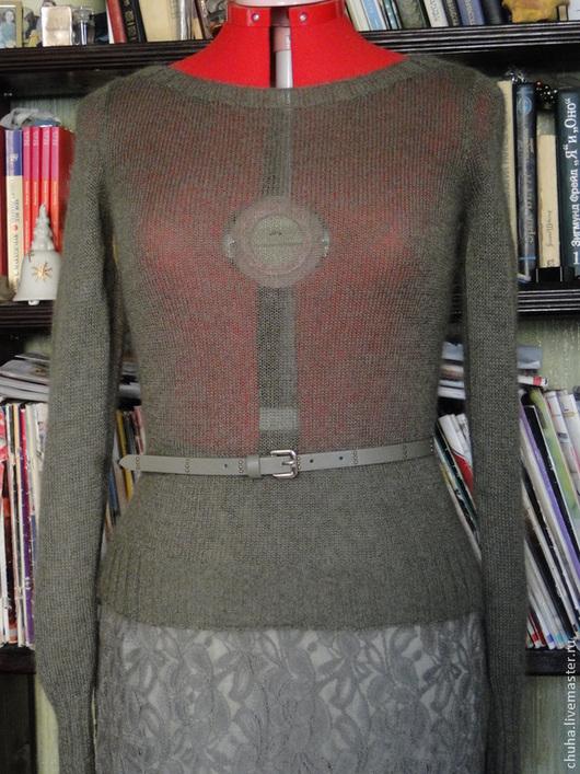 Кофты и свитера ручной работы. Ярмарка Мастеров - ручная работа. Купить Тонкий кид-мохеровый пуловер. Handmade. Пуловер вязаный