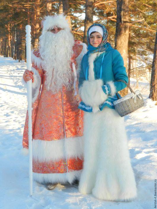 Карнавальные костюмы ручной работы. Ярмарка Мастеров - ручная работа. Купить костюмы Деда Мороза и Снегурочки. Handmade. Комбинированный