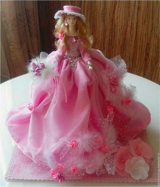 Коллекционные куклы ручной работы. Ярмарка Мастеров - ручная работа. Купить Авторскя интерьерная кукла(сувенир), ручная работа. Handmade. Розовый