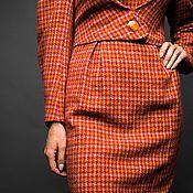 Одежда handmade. Livemaster - original item Winter wool dress. Terracotta Dress.. Handmade.