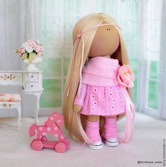 """Куклы тыквоголовки ручной работы. Ярмарка Мастеров - ручная работа. Купить Текстильная интерьерная кукла """"Зефирка"""". Handmade. Тильда кукла"""