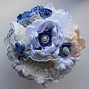 Свадебный салон ручной работы. Ярмарка Мастеров - ручная работа Брошь букет в морском стиле, свадебный букет ручной работы. Handmade.