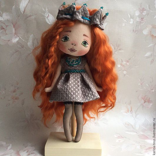 """Коллекционные куклы ручной работы. Ярмарка Мастеров - ручная работа. Купить """"Я- Принцесса"""". Handmade. Коричневый, кукла Тильда, текстиль"""