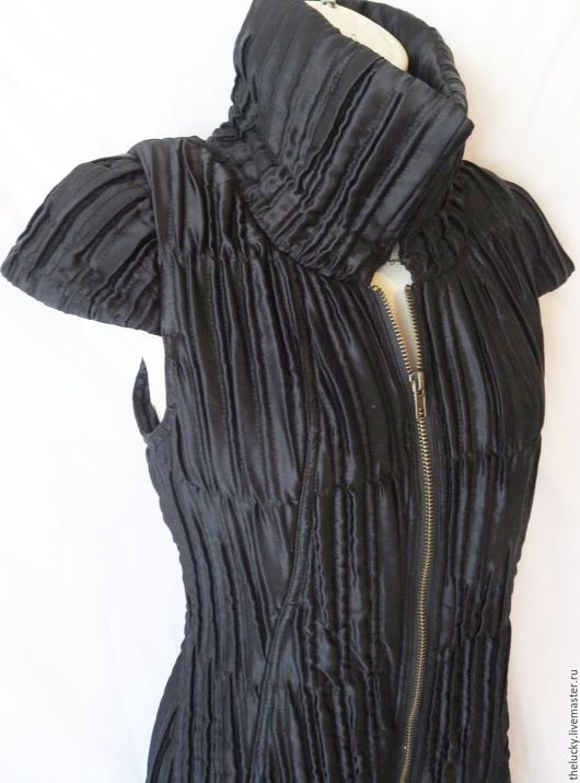 Одежда. Ярмарка Мастеров - ручная работа. Купить 100%Шёлк Стильное Платье-Рубашка На Подкладе. Handmade. Черный, идеальный подарок