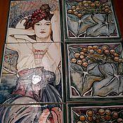 Картины и панно handmade. Livemaster - original item Ceramic mural handmade Amethyst from the gems. Handmade.