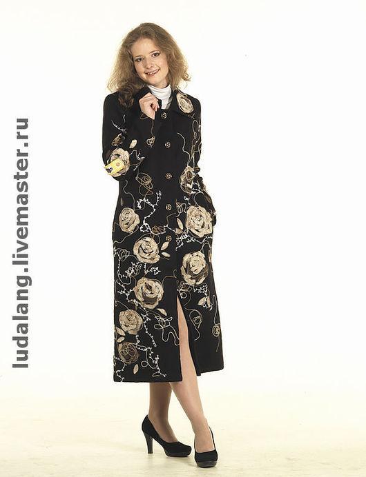 Верхняя одежда ручной работы. Ярмарка Мастеров - ручная работа. Купить Пальто Чайная роза. Handmade. Авторский трикотаж