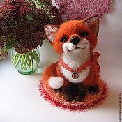 Куклы и игрушки ручной работы. Ярмарка Мастеров - ручная работа войлочная лисичка Лизетта. Handmade.