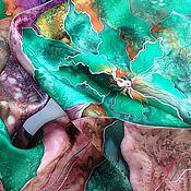 """Аксессуары ручной работы. Ярмарка Мастеров - ручная работа Шарф """"Уральские самоцветы"""" батик. Handmade."""