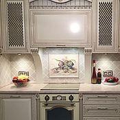 Дизайн и реклама handmade. Livemaster - original item Painted tile Mural over the stove Artichokes. Handmade.