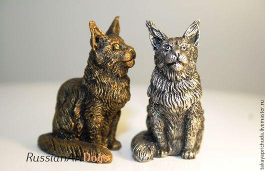 Статуэтки ручной работы. Ярмарка Мастеров - ручная работа. Купить МЕЙН КУН - статуэтка (оловянная миниатюрная фигурка кошки). Handmade.