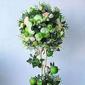 """Цветы и флористика ручной работы. Ярмарка Мастеров - ручная работа Топиарий, дерево счастья """"Яблочный Фреш"""". Handmade."""