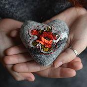 Подарки к праздникам ручной работы. Ярмарка Мастеров - ручная работа Цветущее сердце каменное сердце валентинка. Handmade.