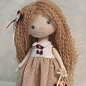 Куклы и игрушки handmade. Livemaster - original item Little doll Katya. Interior doll with brown eyes in beige dress. Handmade.
