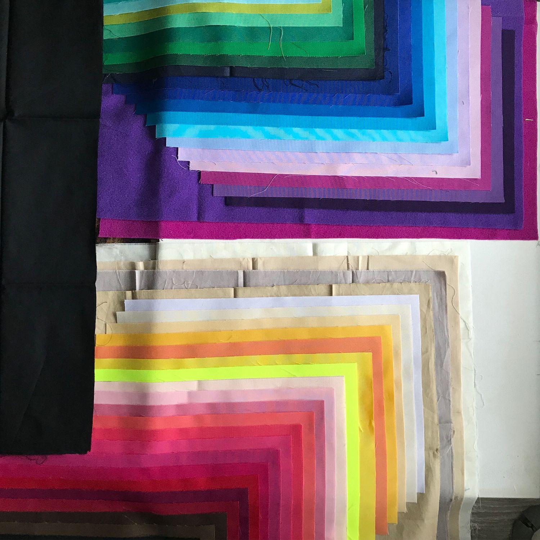 Персональные подарки ручной работы. Ярмарка Мастеров - ручная работа. Купить Набор платочков стилиста для цветотипирования. Handmade. Подбор цвета