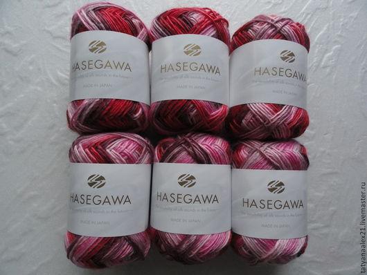 Вязание ручной работы. Ярмарка Мастеров - ручная работа. Купить Пряжа Hasegawa Utage - 3 № 10. Handmade. Зеленый