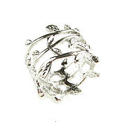 Украшения handmade. Livemaster - original item Silver ring leaves, ring leaves around your finger. Handmade.