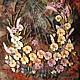 """Картины цветов ручной работы. Ярмарка Мастеров - ручная работа. Купить Вышитая картина """" Вальс цветов"""". Handmade."""