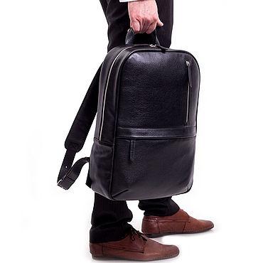 """Сумки и аксессуары ручной работы. Ярмарка Мастеров - ручная работа Кожаный мужской рюкзак """"Tayler"""" (Черный). Handmade."""