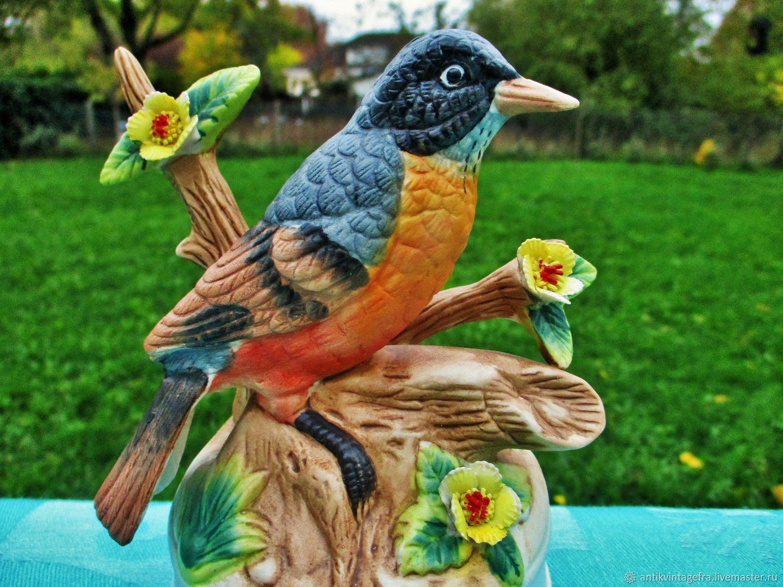 Винтаж: Старинная винтажная музыкальная статуэтка Oiseau бисквит Италия – купить на Ярмарке Мастеров – K8C80RU | Предметы интерьера винтажные, Орлеан