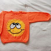 Работы для детей, handmade. Livemaster - original item Cardigan with the sun. Handmade.